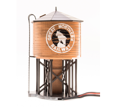 Broadway Limited #6133 Operating Water Tower w/ Sound w/ GN Logo Weathered Brown