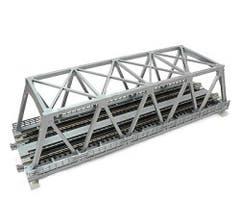 """Kato #20-437 248mm (9 3/4"""") Double Track Truss Bridge, Silver"""