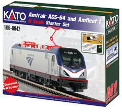 Kato #106-0042 Amtrak ACS-64 and Amfleet I Starter Set Starter set (N Scale)