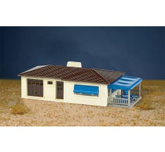 Bachmann #45156 Plasticville U.S.A Ranch House Kit - Cream Green