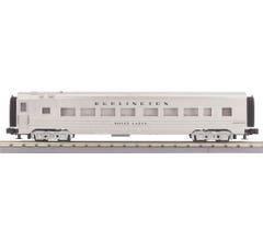MTH 30-68227 Burlington (Plated) 60' Streamlined Coach Car