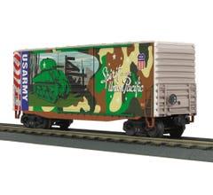 MTH #30-74928 40' High Cube Box Car- UP Army
