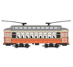 Bachmann #61089 Orange/Cream/Gray- Brill Trolley