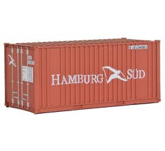 Walthers #949-8006 20' Ribbed-Side Container - Hamburg Sud