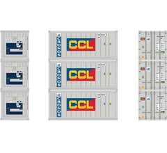 Athearn #28850 20' Reefer Container Cronos/CCL (3pcs)