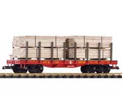 PIKO #38740 Santa Fe Flatcar w/Lumber Load