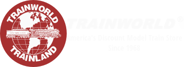 Trains at Train World - America's Largest International Mail Order Discount Model Train Store.