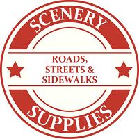 ON30 Scenery Roads, Streets & Sidewalks Model Trains