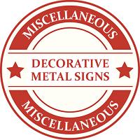 Signs (Metal Decoration Signs) Model Trains | TrainWorld